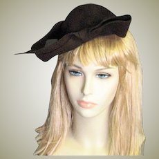 Smashing Brown Wool Chapeau