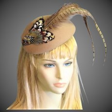 Outstanding Adolfo Vintage Wool & Feather Chapeaux