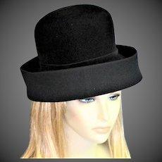 Magnificent Black Velvet Oleg Cassini Hat