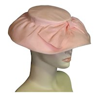 Stunning Pink Organdy Picture Hat