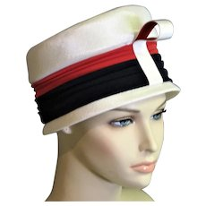 Red White & Blue Summer Cloche Michael Terre Hat