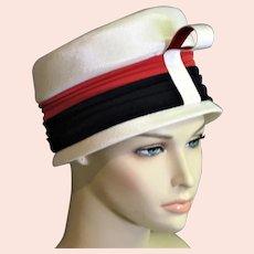 Red White & Blue Summer Cloche Michael Terre Hat