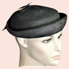 Black & White Top Of Head Summer Hat