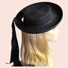 Black Pancake Maxine Straw Hat