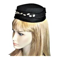 Black Fancy 1950's Ilten Hat