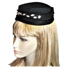 Black Fancy 1950's Ilten Hat