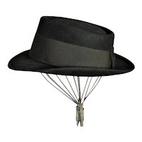 1940's Royal Stetson Black Wool Chapeau