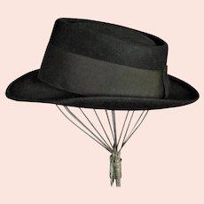 1940's Royal Stetson Black Wool Chapeau