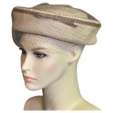 Summer Tan & Brown Straw Hat