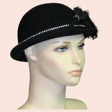Adolfo New Black Felt Hat