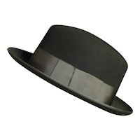 Spectacular Men's Black Wool Felt '40's Hat
