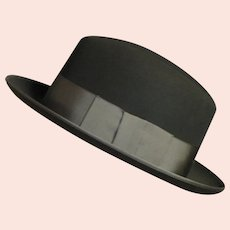Spectacular Men's Black Wool Felt '40's Hat