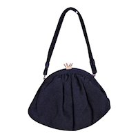 1930's Little Black Fabric Bag