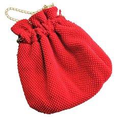 Plastic Pebble Re d & White Reversible Hand Bag
