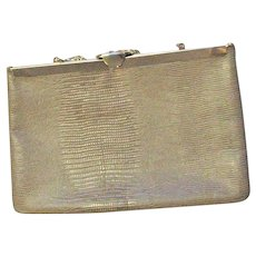 Tan & Gold Snake Printed Handbag