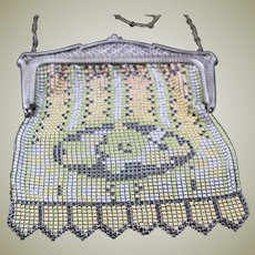 Early 1900's Mesh Art Deco Whiting & Davis Purse