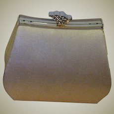 Fabulous Gold Silk Evening Bag