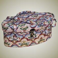 Vintage Neiman Marcus Tapestry Bucket Bag