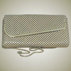 Dark Taupe Mesh Metal Cross Body/Clutch Purse