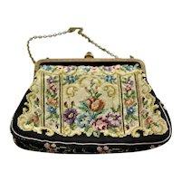 Beautiful Vintage Tapestry Small Handbag