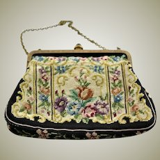 Beautiful Vintage Tapestry Small Handbag