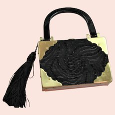 Fun Top Handle Beaded Cigar Box Bag