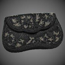 Black Beaded Evening Clutch Bag
