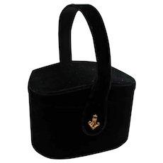 Spectacular Black Velvet Box Purse