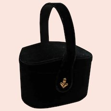 Spectacular Black Velvet Box Purse