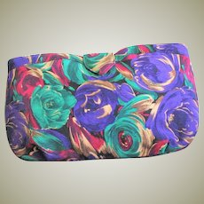 Pretty Flower Fabric J. Renee Clutch Bag