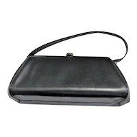 Beautiful Black Mid Century Handbag