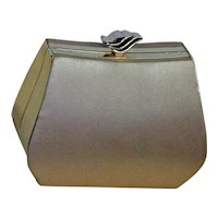 Champagne Colored Satin Evening Bag