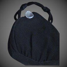 Top Handle Fabric Evening Bag