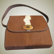 Darling Pony Hair Top Handle Purse