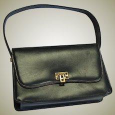 Black Single Handle Galatix Leather Handbag