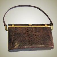 Vintage Pradobags Brown Snake Skin Handbag