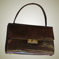 Vintage Palizzio Baby Alligator Top Handle Bag