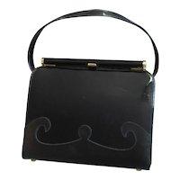 Vintage Black Kelley Style Purse