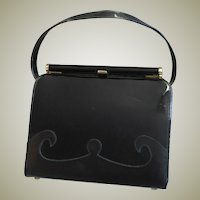 Vintage Black Kelley Style Purse