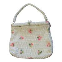 Vintage Lumured 1950's Floral Lucite Bag