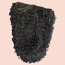 1920's Beaded Bag With Long Chain Handle