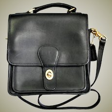 Beautiful Vintage Coach Willis Black Leather Bag
