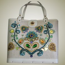 Charming Decorated 1960's Handbag