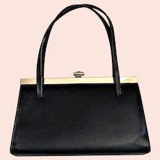 Vintage Black Leather Elbier/England Purse