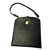 Sweet Black Top Handle Mid Century Handbag