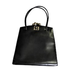 Beautiful Little Black Leather Handbag