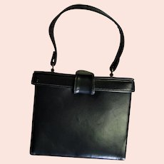 Mam`Selle Original Leather Square Bucket Handbag