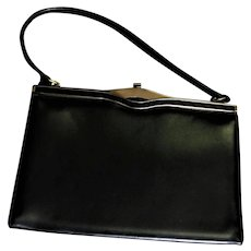 Top Handle Genuine Leather Purse