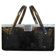 Beautiful Two Color Lucite Purse