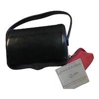 Pretty Ronay Black Leather Structured Handbag